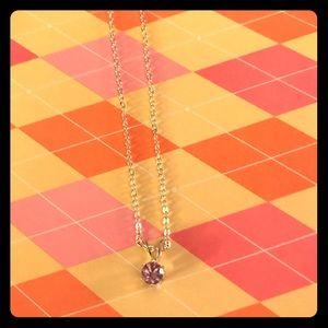 💕 EFFY Purple Gem Silver Necklace
